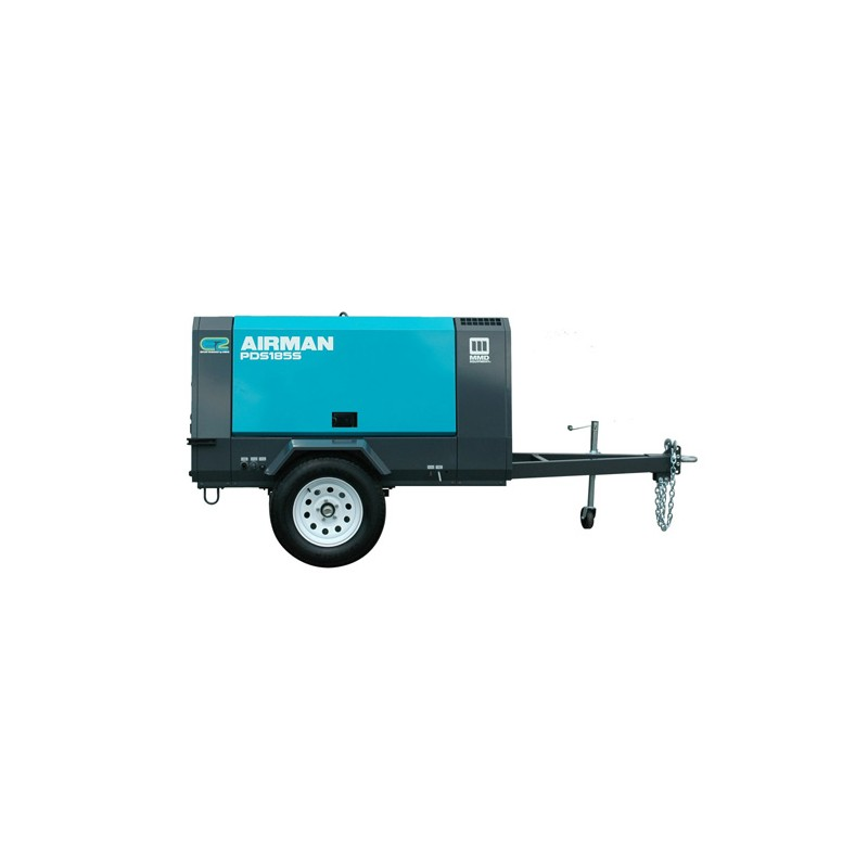 Compressor 185 CFM, Diesel, Towable